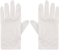Child's Short White Fancy Dress Gloves