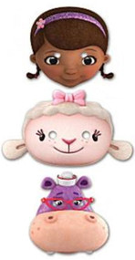 Pack Of 6 Doc McStuffins Party Face Masks