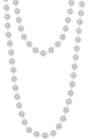 Ladies 1920s Flapper Pearl Beaded Fancy Dress Necklace