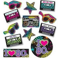 Pack of 30 1980's Party Decorations