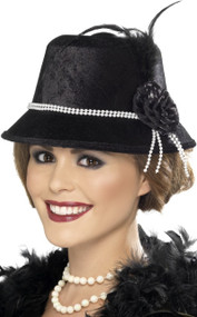 Ladies 1920s Flapper Fancy Dress Hat