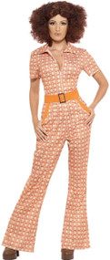 Ladies Authentic 70s Girl Fancy Dress Costume