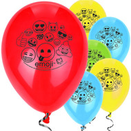 "Emoji 12"" Latex Party Balloons"