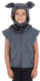 Child's  Wolf Tabard Fancy Dress Costume