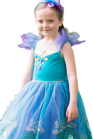 Girls Deluxe Peacock Fairy Fancy Dress Costume