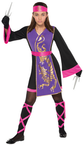 Older Girls Samurai Ninja Fancy Dress Costume