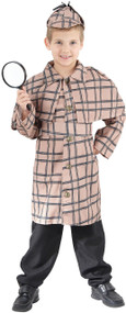 Boys Detective Holmes Fancy Dress Costume