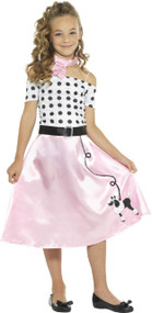 Girls 1950s Sweetie Fancy Dress Costume