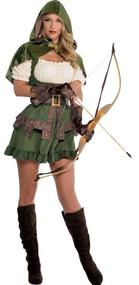 Ladies Robin Hoodie Fancy Dress Costume
