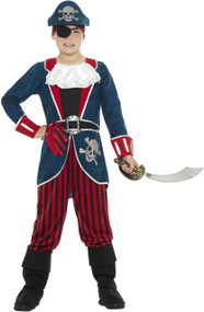 Boys Deluxe 6 Piece Pirate Fancy Dress Costume