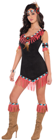 Ladies Native American Princess Fancy Dress Costume