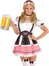 Ladies 5 Piece Oktoberfest Fancy Dress Costume