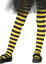 Girls Bumble Bee Stripe Fancy Dress Tights
