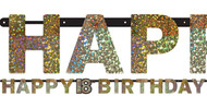 18th Birthday Sparkling Celebration Party Banner