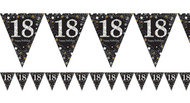 18th Birthday Sparkling Celebration Flag Party Bunting
