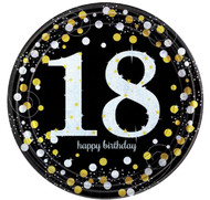 18th Birthday Sparkling Celebration Party Plates