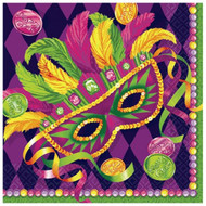 Mardi Gras Masquerade Beverage Party Napkins