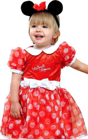 Girls Cute Official Minnie Mouse Fancy Dress Costume