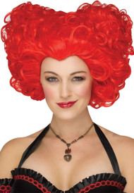 Ladies Red Queen Cosplay Fancy Dress Wig