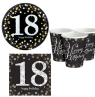 18th Birthday Sparkling Party Tableware Set