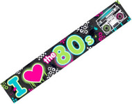 Totally 80s  Large 25ft Party Banner