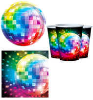 70s Disco Fever Party Tableware Set