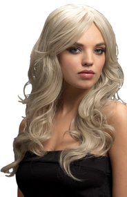 Ladies Professional Long Platinum Wavy Nicole Wig