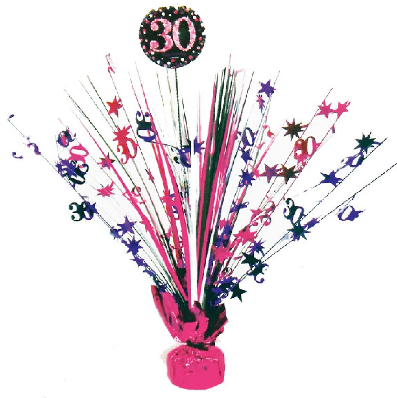 30th Birthday Pink Celebration Table Centerpiece Image 1