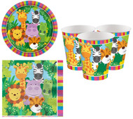 Animal Friends Party Tableware Set