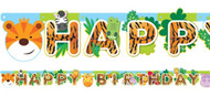 Animal Friends Party Letter Banner