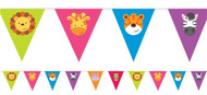 Animal Friends Party Flag Bunting
