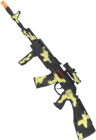 Adults Camo Rifle Fancy Dress Weapon
