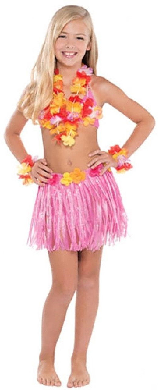 e554037429 Girls Hawaiian Hula Fancy Dress Costume - Fancy Me Limited