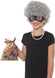 Girls Instant Gangster Granny Fancy Dress Kit