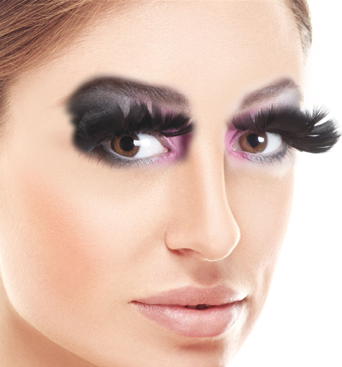 ba335d51cdd Ladies Long Black Feather Eyelashes - Fancy Me Limited