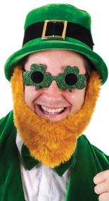 Adults Shamrock Fancy Dress Glasses