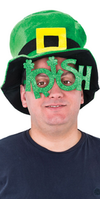 Adults Irish Fancy Dress Glasses