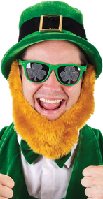 Adults Tinted Shamrock Fancy Dress Glasses