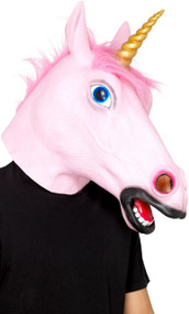Adults Pink Unicorn Fancy Dress Mask