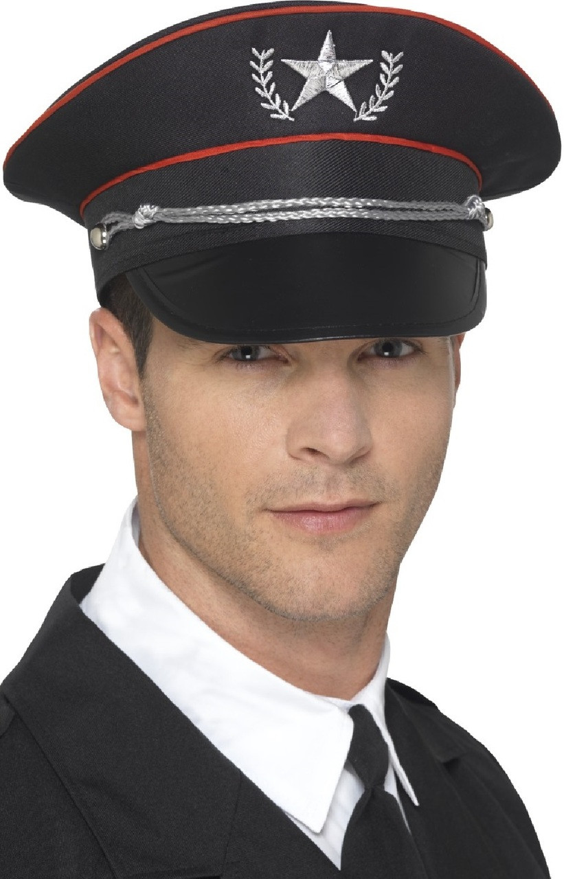 a1c115f2663 Mens Deluxe Military Officer Fancy Dress Hat - Fancy Me Limited