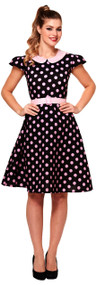 Ladies 50s Polka Dot Fancy Dress Costume