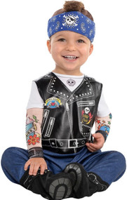 Baby Boys Biker Fancy Dress Costume