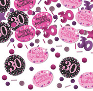 30th Birthday Pink Celebration Confetti