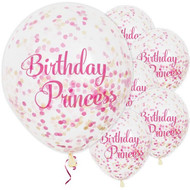 Birthday Princess Confetti Party Balloons
