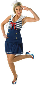 Ladies Sexy Sailor Fancy Dress Costume 1