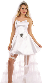 Ladies Learner Bride Fancy Dress Costume