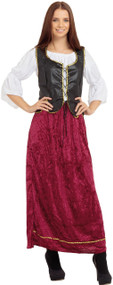 Ladies Medieval Wench Fancy Dress Costume 1