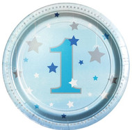 Blue Star 1st Birthday Party Plates