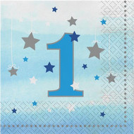 Blue Star 1st Birthday Party Napkins