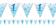Blue Star 1st Birthday Party Bunting